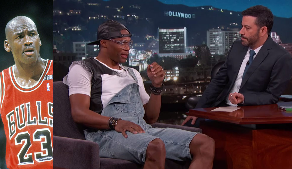 Russell Westbrook Wanted To Beat Michael Jordan's Triple Double Record but Wasn't As Close As Jimmy Kimmel Thought