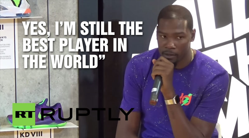 """Kevin Durant says """"I'm Still The Best Player In The World"""" During Madrid Visit"""