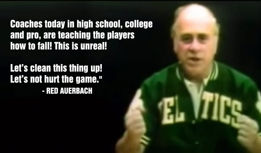 Red Auerbach Made An Anti-Flopping Video 40 Years Ago