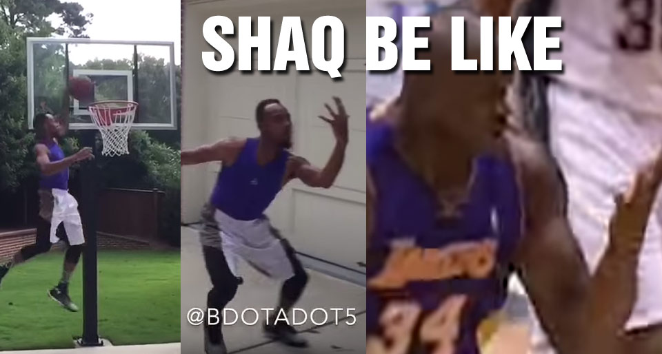 """Shaq Approves of Master NBA Impersonator's """"Shaq Be Like"""" video"""