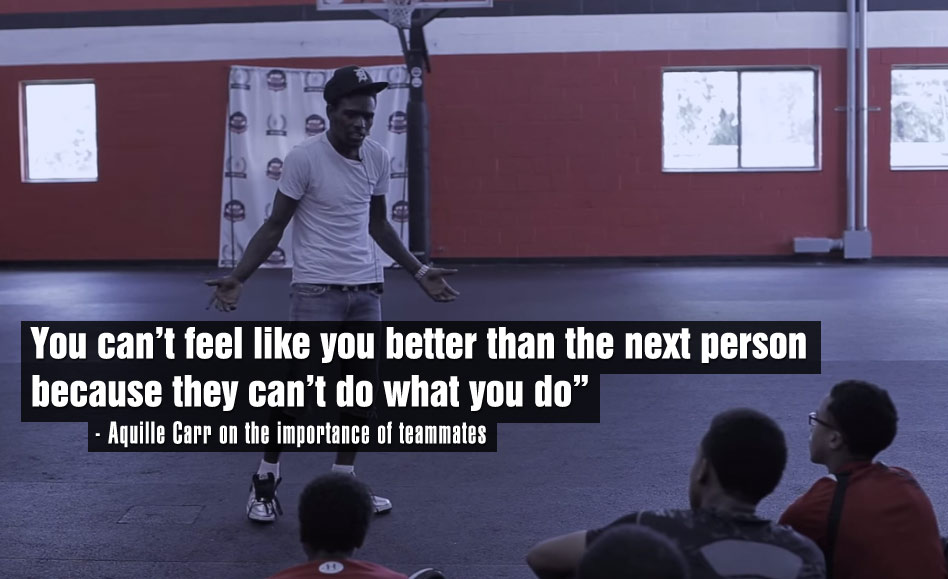 Baltimore Hoop Legend Aquille Carr Gets Real With Campers About Egos and Teamwork