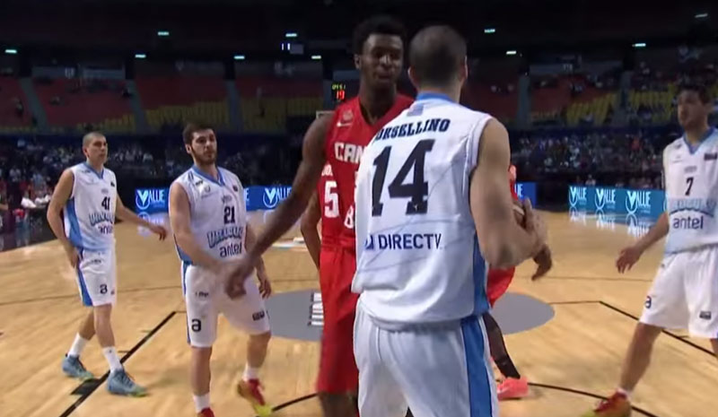 Andrew Wiggins Dominates 3rd Quarter vs Uruguay, Stares Down Defender After Dunk