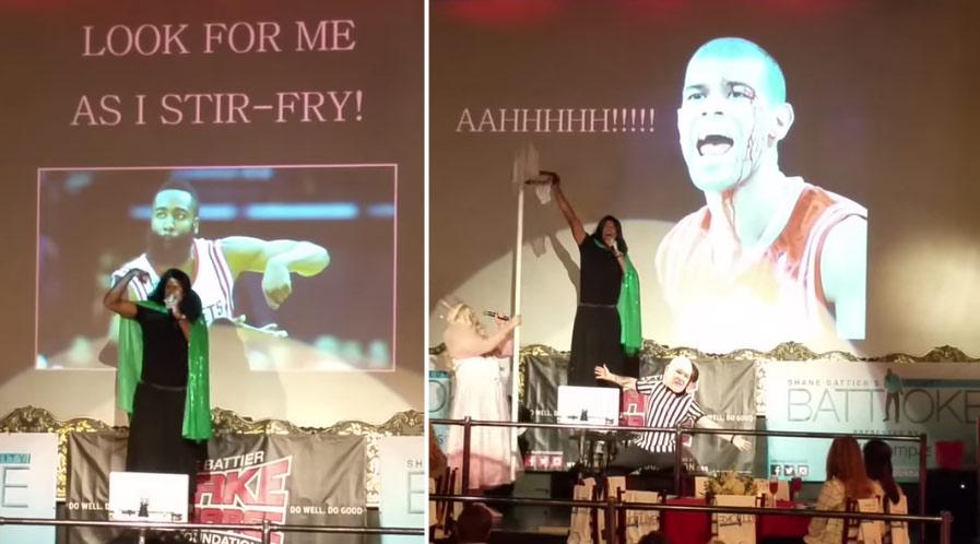 Shane Battier & Rockets GM Daryl Morey Dress Like Women & Do Karaoke For Charity
