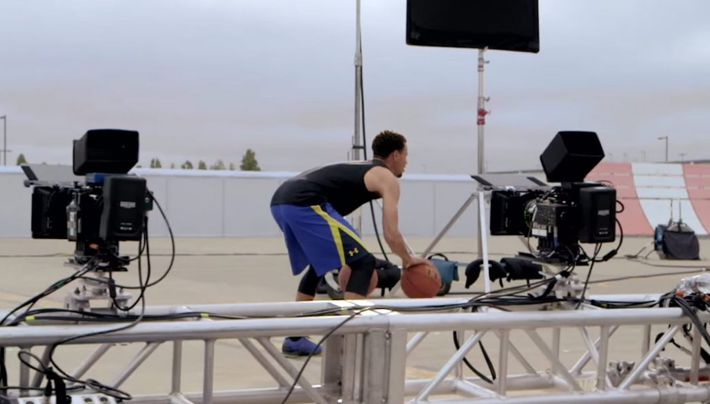 Behind the Scenes of Steph Curry's New UA Commercial Directed by Wally Pfister