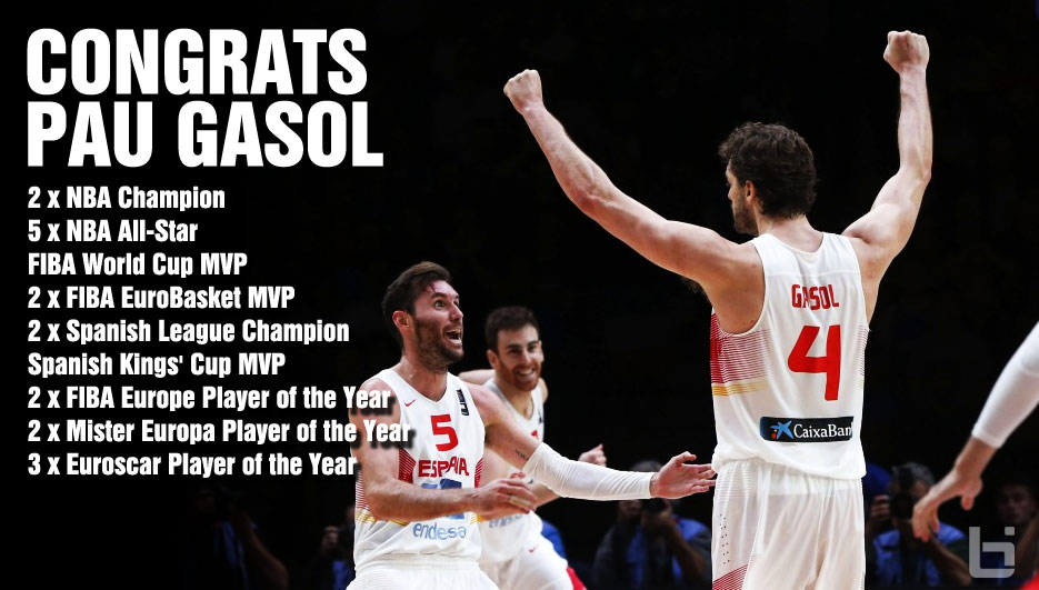 Pau Gasol Wins MVP & 2015 EuroBasket Gold in Dominating Win Over Lithuania