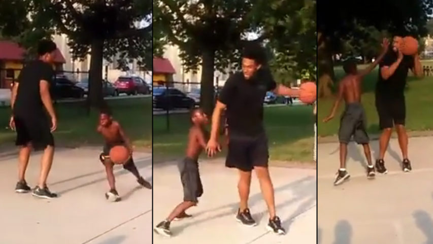 Kid Hilariously Records Jabari Parker Showing No Mercy On A Kid At A Local Court