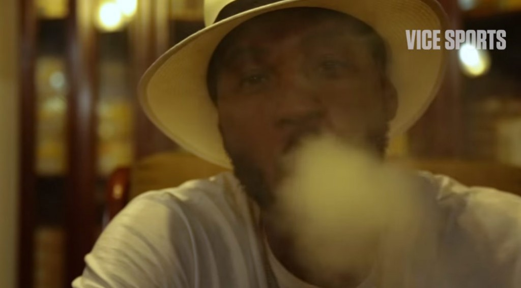 Watch Carmelo Anthony Learn How To Roll A Cigar & Check Out The Soccer Scene in Cuba