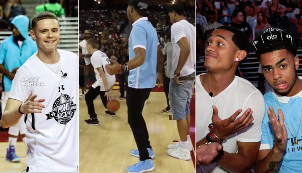 """Streetball Legend The Professor Shows Lakers D'Angelo Russell & Jordan Clarkson the """"Moses Move"""""""