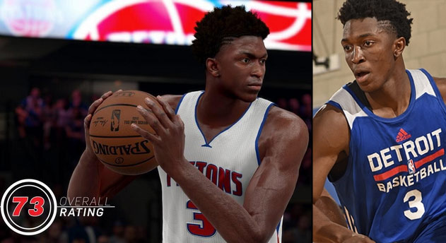 Stanley Johnson in NBA2k16: The Hair Looks Great But the Rating…
