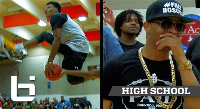 Rapper T.I. Shocked By Crazy High School Dunk Contest! API Midnight Madness