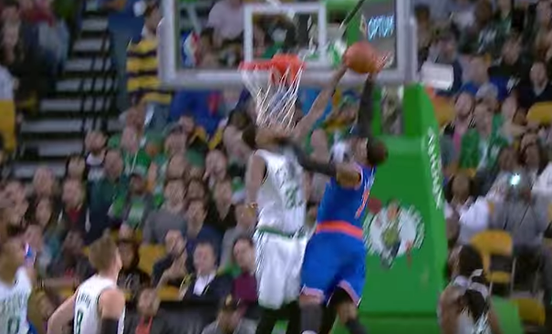 Carmelo Anthony Gets Rejected By Amir Johnson