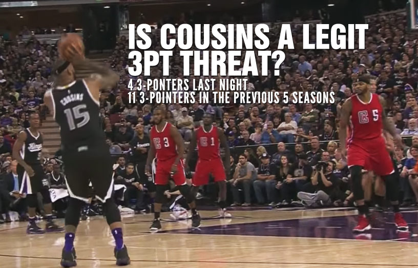 DeMarcus Cousins Is Officially A 3-Point Threat Now