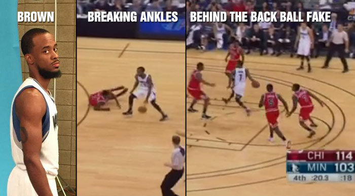Lorenzo Brown Breaks Marcus Simmons Ankle Then Scores On a Behind the Back Ball Fake