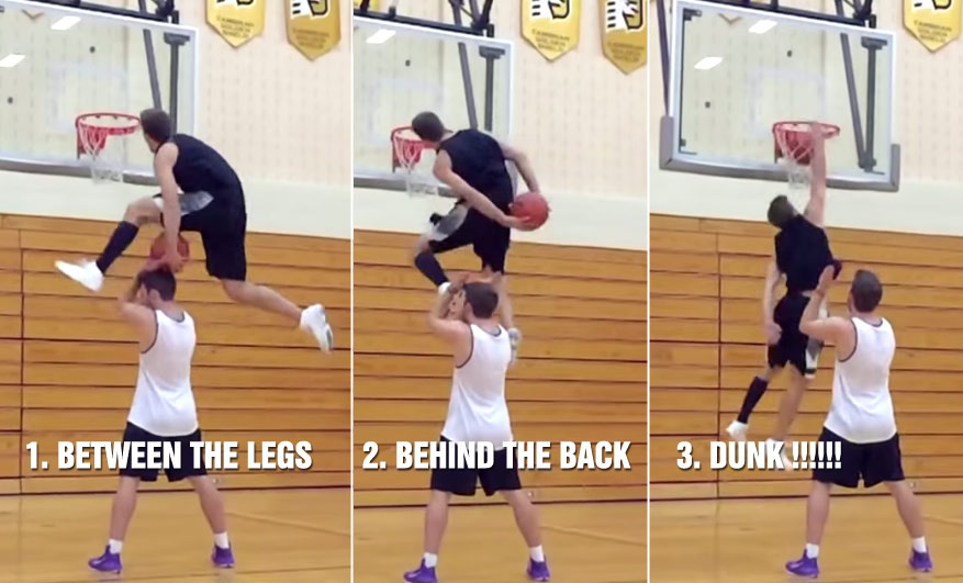 Jordan Kilganon Does A Between The Legs Behind The Back Over A Person Dunk!