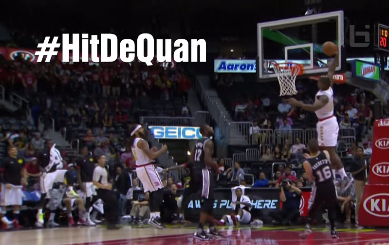 #HitDeQuan! DeQuan Jones Played Only 3 Minutes, Enough To Have The Dunk of the Game
