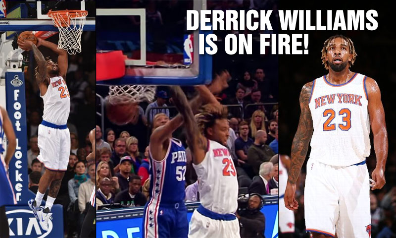 Derrick Williams Stays Hot, Scores 21 & Throws Down A Reverse Dunk vs the 76ers