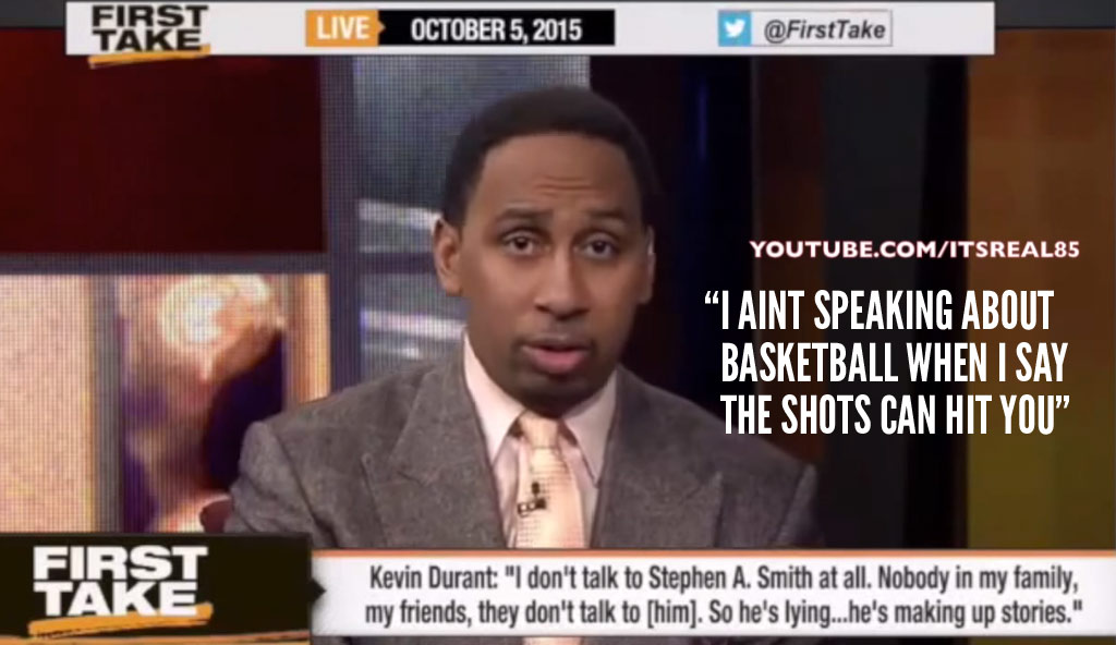 ITSREAL85: Uncensored Stephen A. Smith Talking Gangster About KD
