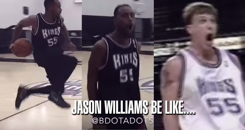 "Sacramento Kings Present The King of NBA Impersonations Doing Jason ""White Chocolate"" Williams!"