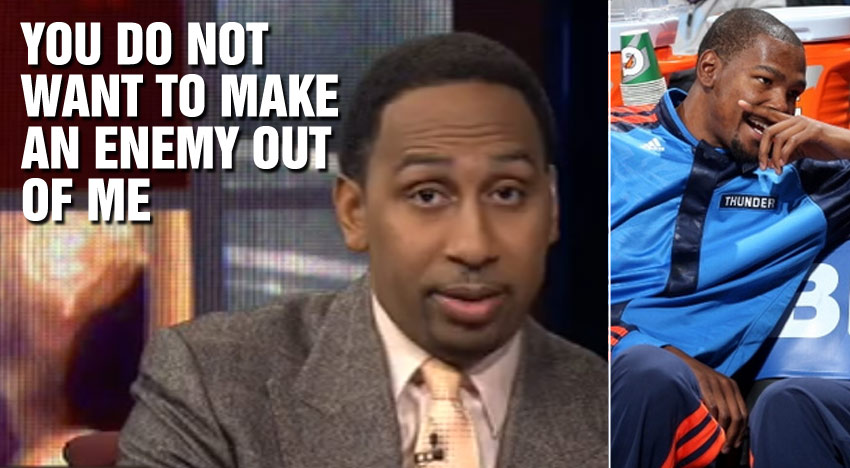 "Stephen A. Smith Calls Kevin Durant A Liar & Says ""You don't want to make an enemy out of me."""