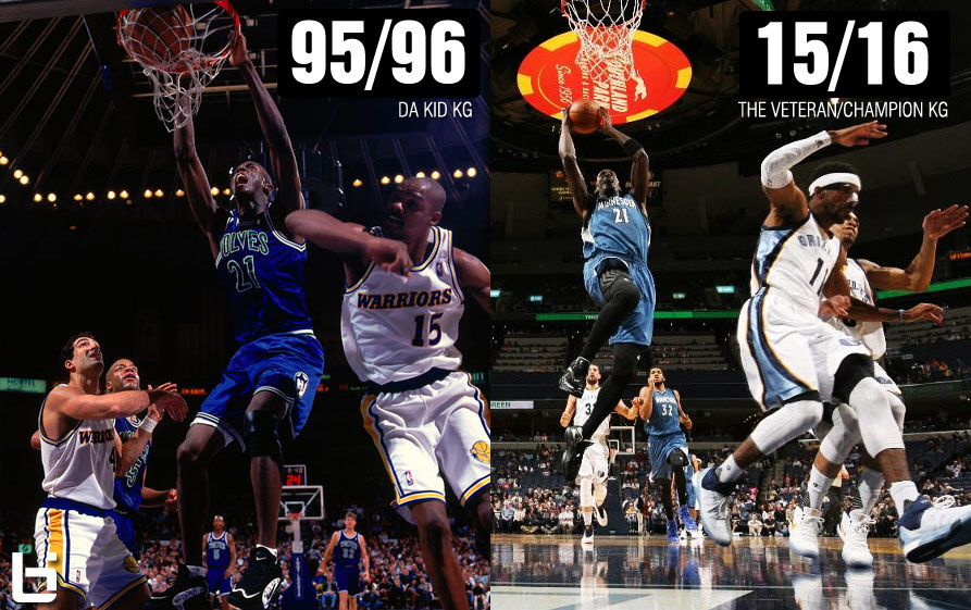 Kevin Garnett at 39 & 19 Years Old With the Timberwolves