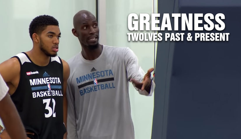 Greatness Past & Present: TWolves Kevin Garnett & Karl Anthony-Towns Mic'd Up in Camp