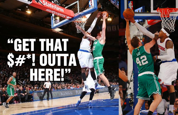 """Carmelo Anthony Rejects David Lee & Yells """"Get That $#*! Outta Here!"""""""