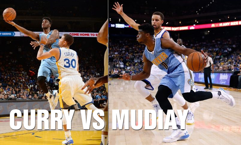 Emmanuel Mudiay vs Steph Curry Duel, Nuggets Win