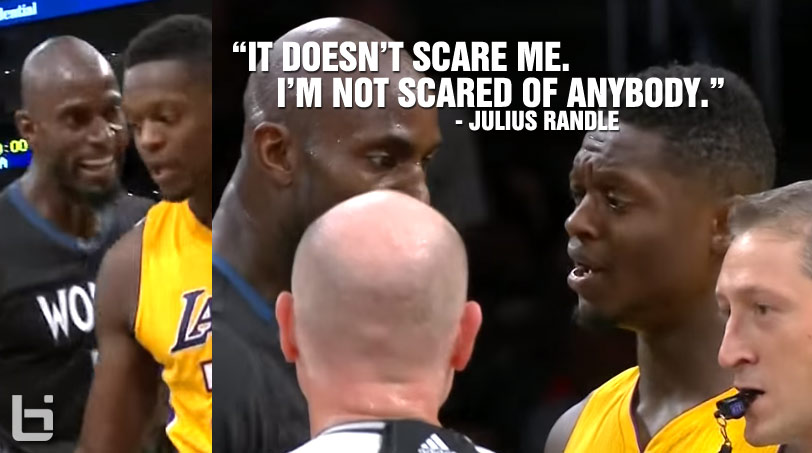 "KG Tries to Intimidate Julius Randle, Randle Says ""I'm Not Scared of Anybody"""