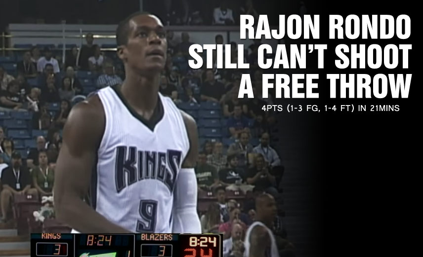 Rajon Rondo Is Still An Awful Free Throw Shooter, Shoots Airball From the Free Throw Line