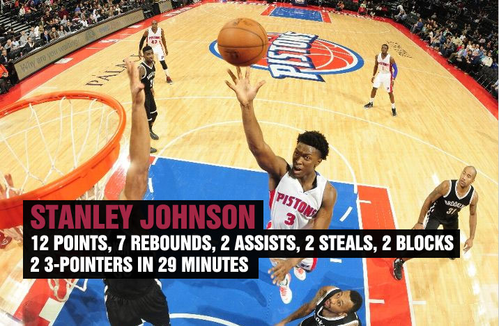Stanley Johnson Shows Off His All-Around Game Against the Nets