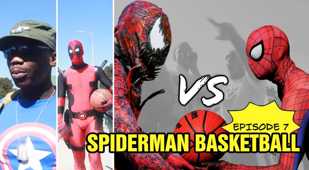 Spiderman Basketball Episode 7: Vs Carnage feat Deadpool