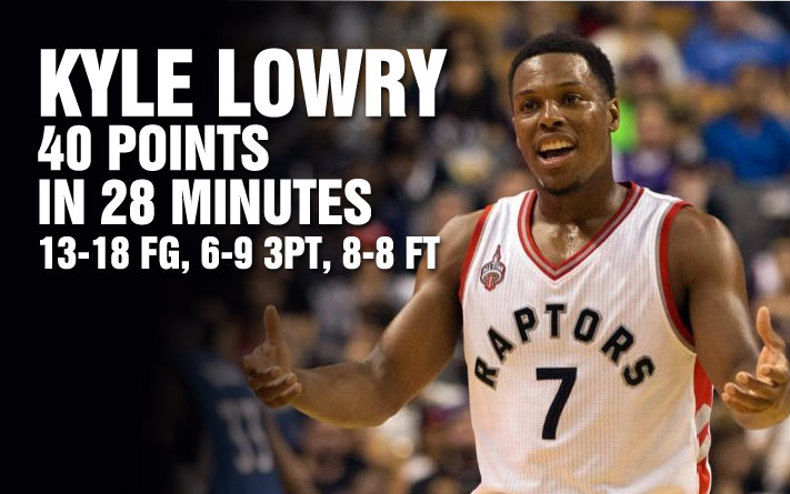 Kyle Lowry Breaks Raptors' Preseason Record For Points By Dropping 40 in Just 28 minutes