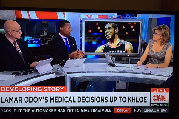 CNN Uses A Photo of LaMarcus Aldridge While Talking About Lamar Odom
