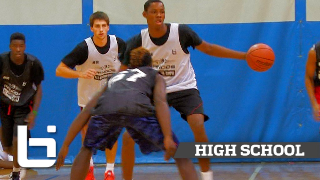 "6'10"" 9th Grader Charles Bassey Has Phenom Potential! Pangos All-South Camp Mix!"