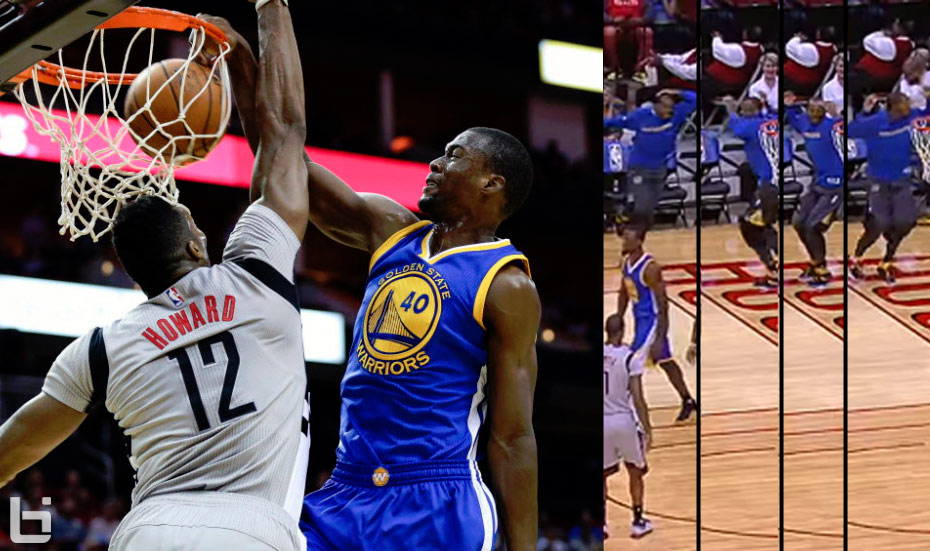 Iguodala's Epic Reaction To Harrison Barnes Posterizing Dwight Howard Brought Back Bazemore Bench Memories