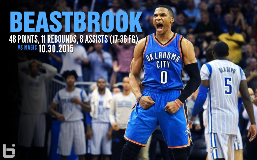 Westbrook & Durant Combine For 91 Points in Double OT Thriller vs the Magic