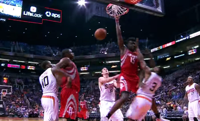 Brandon Knight Gets Posterized By Clint Capela, Terrence Jones With The Staredown