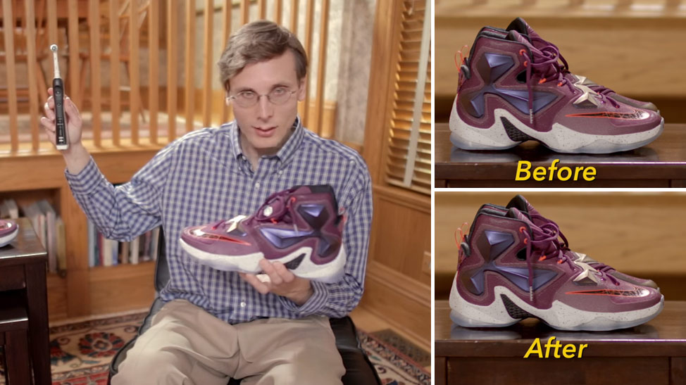 Brad Hall Shows You How To Clean Your Sneakers With A Toothbrush