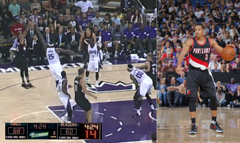 CJ McCollum Catches Fire in 3rd Quarter (19 of his 30 points) vs the Kings