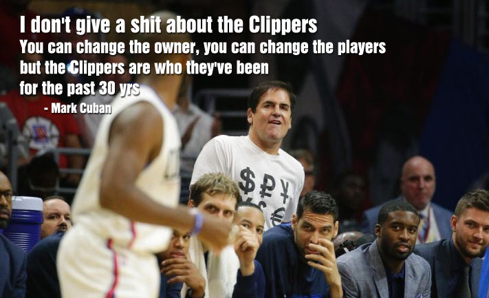"""Mark Cuban Says """"I Don't Give A $#!t About The Clippers,"""" Ends Up On The Kiss-Cam With Clipppers Owner"""