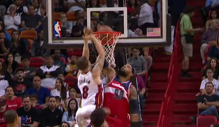 Tyler Johnson Has Hops, Dunks on Drew Gooden & Does Between The Legs Dunk In Practice