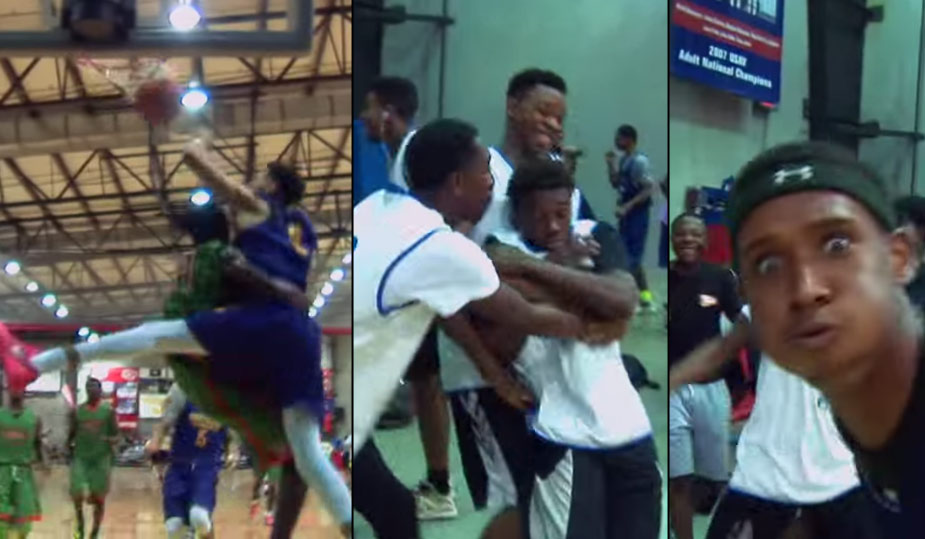 Watch This Epic Reaction To HS Sophomore Sensation E.J. Montgomery's Poster Dunk