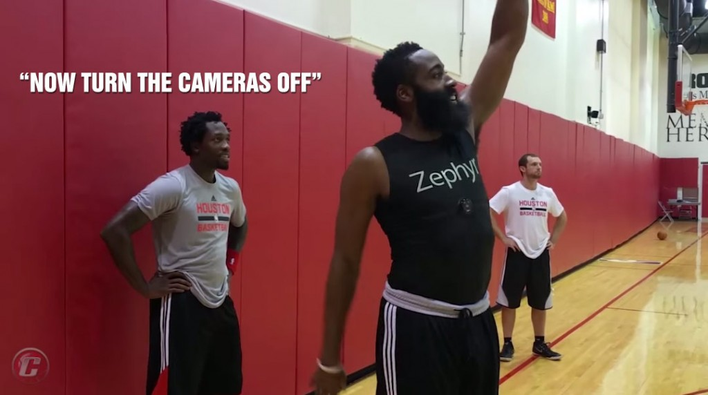 "Patrick Beverley Says ""Turn the Cameras Off"" When James Harden Heats Up During 3-Point Shootout"