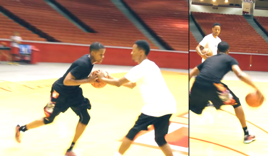 Elite Houston Point Guard Jacob Young Working Out With NBA Skills Trainer