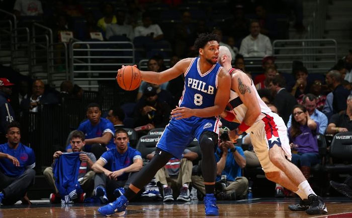 Jahlil Okafor Shows Off His Fadeaway Jumper in his 76ers Debut, 12pts in 17mins