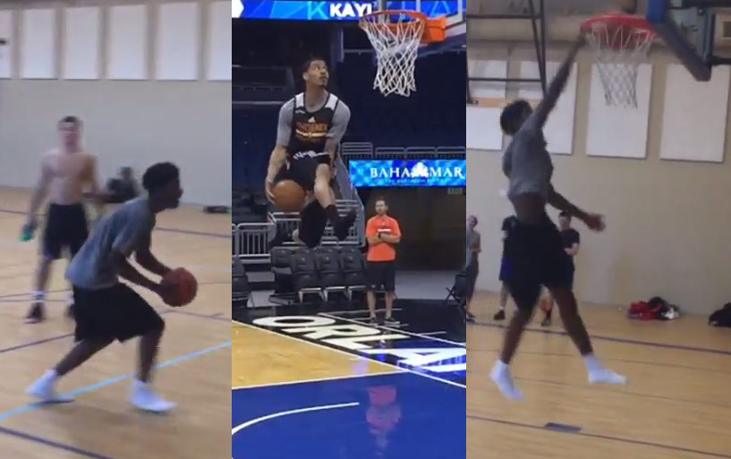 Josh Jackson Pulls Off Gerald Green's Underrated Between The Legs In Socks Dunk