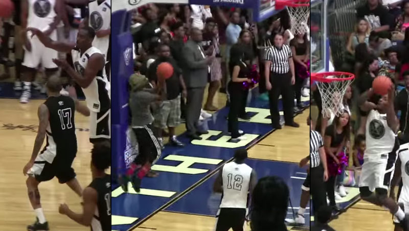 John Wall Passes To A Fan Who Throws Him An Alley-oop During The Ludacris' Celeb Game