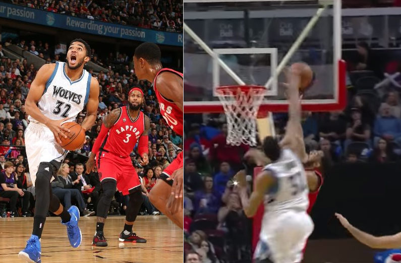 Karl-Anthony Towns Dunks On Mitch McGary, Scores 18 in Preseason Debut
