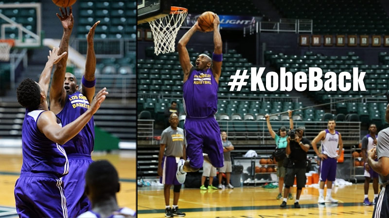 Kobe Bryant With Some Classic Moves & A Dunk During Lakers Scrimmage