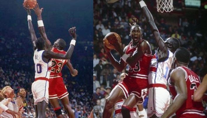 Michael Jordan vs Manute Bol Moments